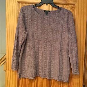 🕺LAUREN Ralph Lauren heathered cable knit sweater
